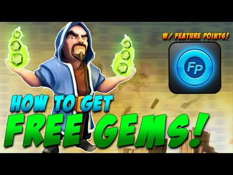 How to Get Free Gems in Clash of Clans with FeaturePoints! + Clash Gameplay!