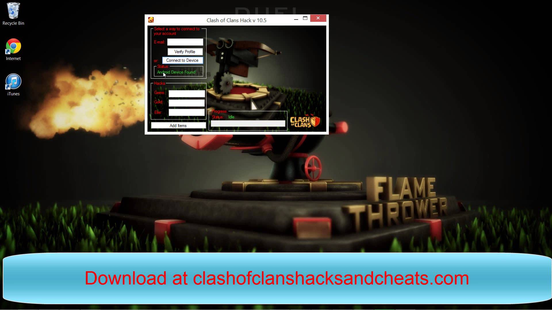 Clash of Clans Hack Ultimate Gem hack Tool Fuck you 2014 nigger