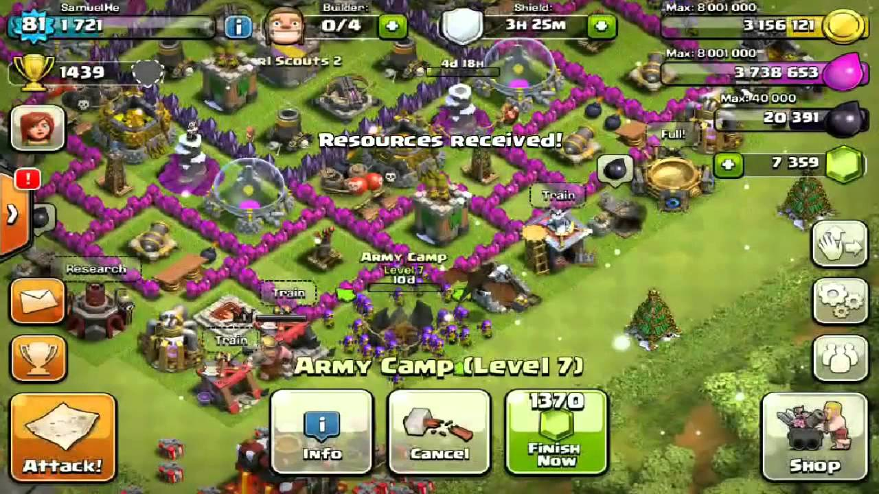 Clash Of Clans – Spending 28,000 Gems – CRAZY EPIC Gemming Spree