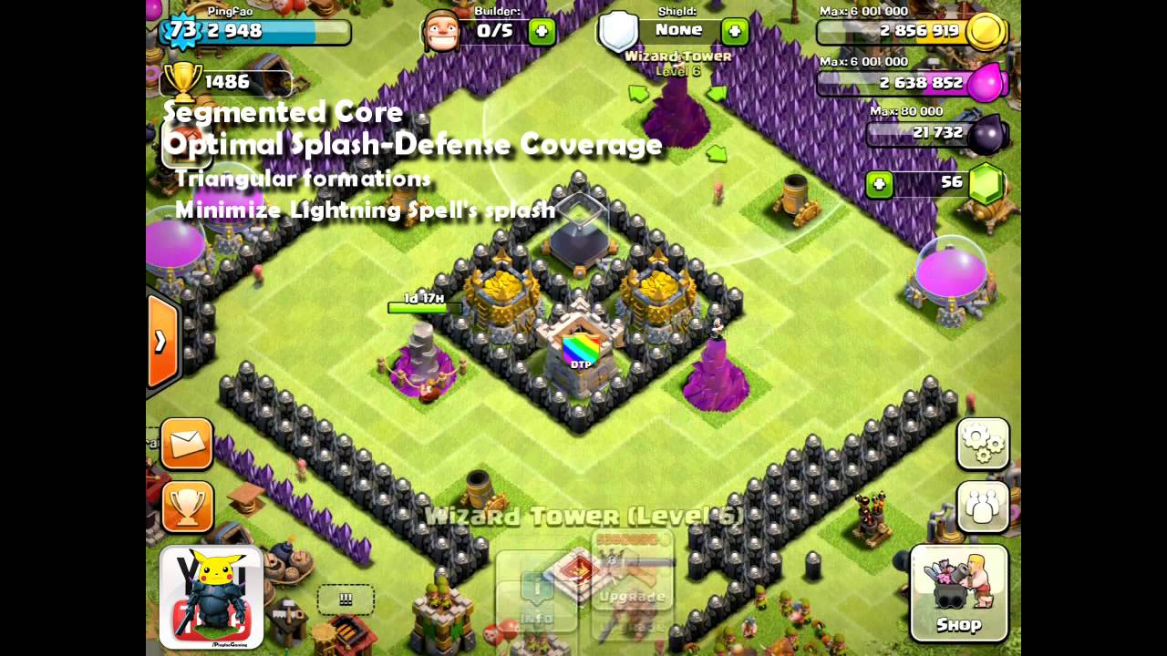 Clash of Clans [Tutorial] Town Hall 8 Design Guide – Pingfao's Tesla Theme Park [Revamped]