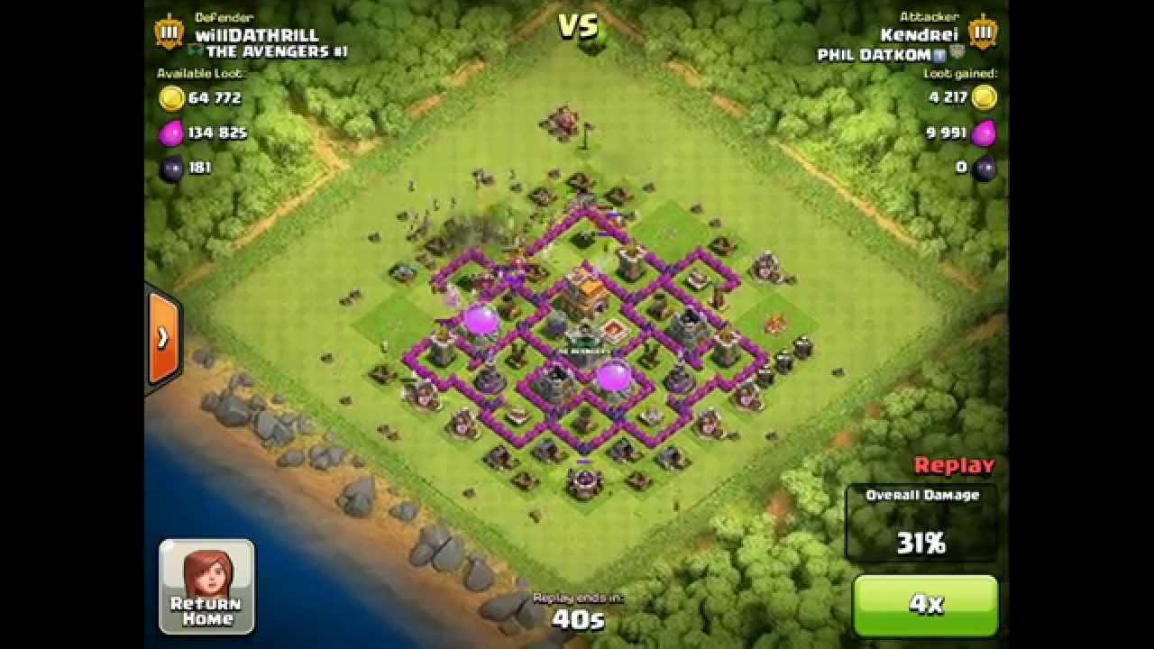 Clash of Clans Defense Strategy- Town Hall 7 UNBEATABLE (sort of) Hybrid base #2