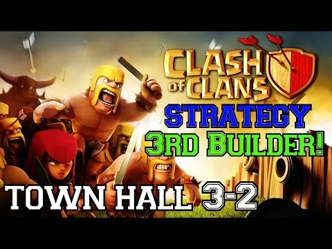 Clash of Clans Strategy: Town Hall 3 | Getting Your FREE 3rd Builder Quickly!