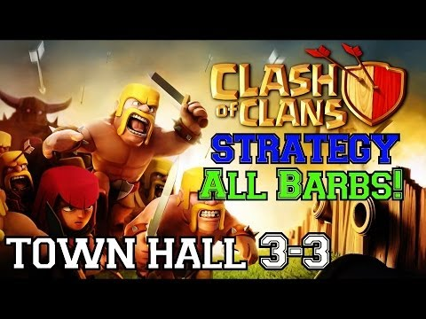 Clash of Clans Strategy: Town Hall 3 | Level 2 All Barbarian Attacks!