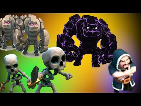 clash of clans-golem witch wizard strategy