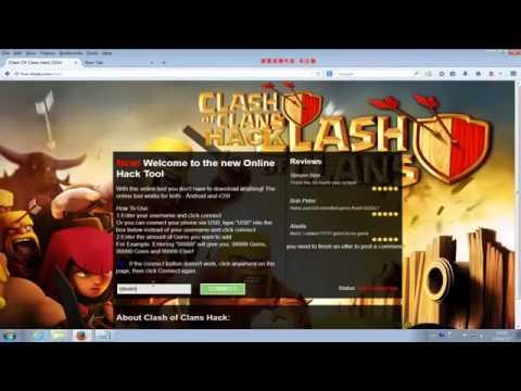 Clash Of Clans Gems Hack July 2014 No Survey1