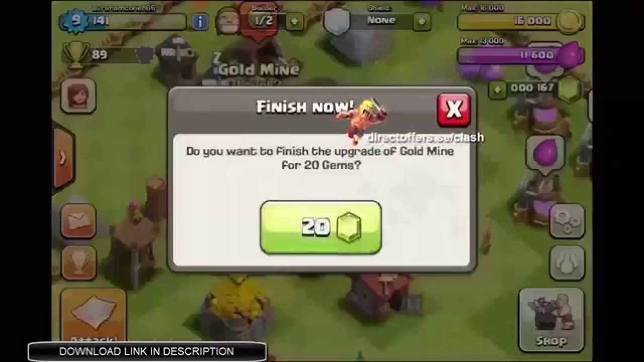 [WORKS 100%] Clash of Clans Gems Glitch – Android and iOS Compatible [RELEASED]