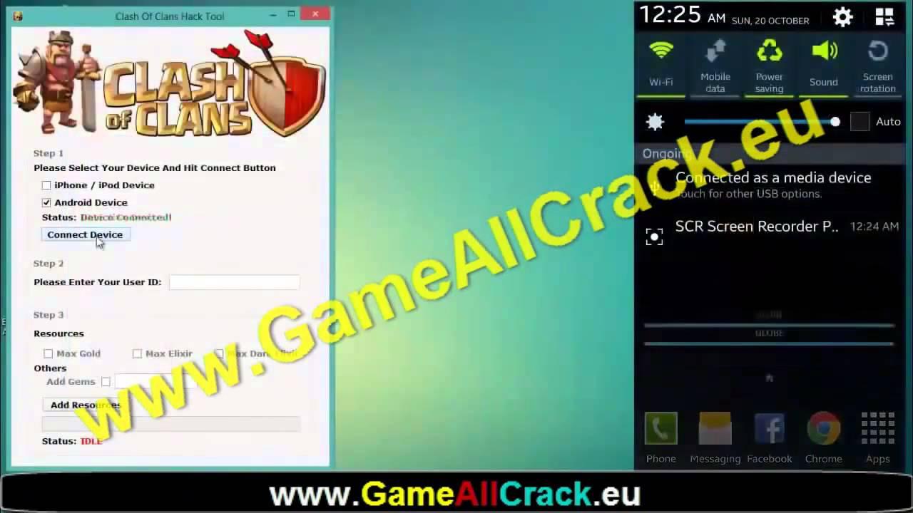 Clash of Clans Gem Hacks Cheat Gratis Gratuit Telecherger Trick
