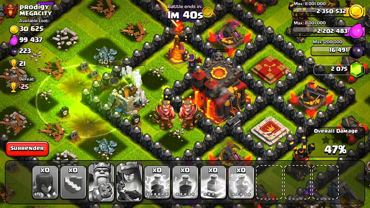Clash of Clans – Witch Frenzy! (Attack Strategy)